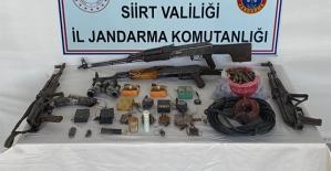 Siirt'te Terör Örgütüne Ait Silah ve Mühimmat Ele Geçirildi