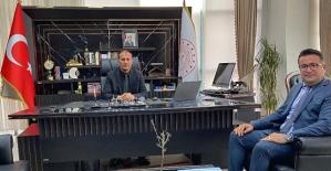 Şirvan İlçe Milli Eğitim Müdürü Kezer, Deniz Edip'i Ziyaret Etti