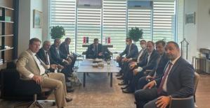 Siirt Heyeti İller Bankası Genel Müdürü Yusuf Büyük'ü Ziyaret Etti
