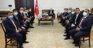 Siirt Heyeti İçişleri Bakanı Süleyman Soylu'yu Ziyaret Etti