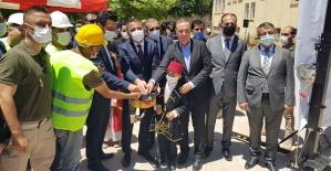 Şirvan'da Atatürk ilkokulun  Temeli  Atıldı,  İlçe Kütüphanesinin Açılışı  Yapıldı