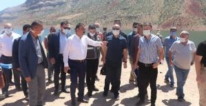 Başkan Vekili Hacıbektaşoğlu, Botan Vadisi'nde İncelemede Bulundu