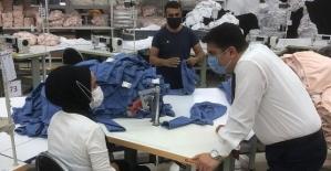 Baykan Kaymakamı/Belediye Başkan V. Mehmet Tunç'tan Tekstil Fabrikasına Ziyaret