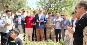 Kurtalan/Konakpınar Köyünde Şehit Mezarları Yenilendi, Şehitler Anıtı Çeşmesi Dualarla Açıldı