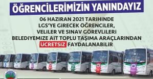 Siirt'te LGS'ye Girecek Öğrencilere ve Öğrenci Velilerine Ulaşım Ücretsiz Olacak