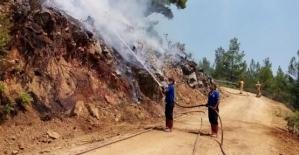 Siirtli İtfaiyeciler Antalya/Manavgat'ta Alevlere Karşı Zamanla Yarışıyor