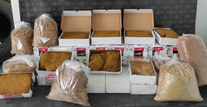 Siirt'te 61,5 Kilo Kıyılmış Tütün Ele Geçirildi