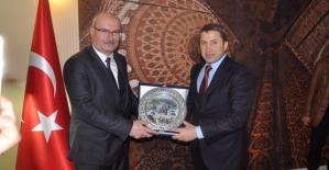 ATO Başkanı Gürsel Baran, Siirt TSO Başkanı Güven Kuzu'yu Ziyaret Etti