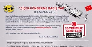 Siirt Üniversitesi Rektörü Prof. Dr. Erman'dan Örnek Kampanya
