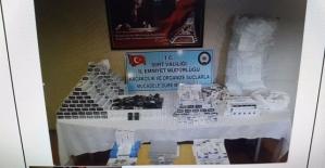 """""""Duman Operasyonu""""nda 4.681 Paket Gümrük Kaçağı Sigaraya El Konuldu"""