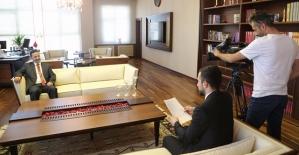 Rektör Erman, TGRT EU'daki Şehr-i Gündem Programına Konuk Oldu