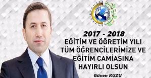 """Siirt TSO Başkanı Kuzu'dan """"2017-2018 Eğitim Öğretim Yılı"""" Açılış Mesajı"""