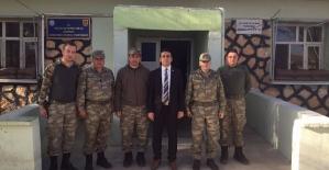Kaymakam Üçgül,Gözpınar Jandarma Karakol Komutanlığını Ziyaret Etti