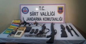 Kurtalan'da Silah ve Mühimmat Ele Geçirildi