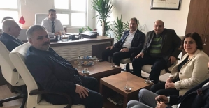 Siirt TSO Heyetinden Vergi Dairesi Müdürü Balbay'a Hayırlı Olsun Ziyareti