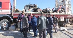 DSİ 16. Bölge Müdürü Kösalı, Garnave Kaplıcasında Sondaj Çalışmalarını Denetledi
