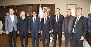 Siirt Heyeti, Çevre ve Şehircilik Bakan Yardımcısı Ceylan ve TOKİ Başkanı Turan'ı Ziyaret Etti
