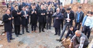 Şirvan İlçemizde Yeni Müftülük Binası ve Kuran Kursunun Temeli Atıldı