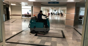 Devlet Hastanesi Son Teknolojik Cihazlarla Temizleniyor