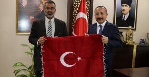 Libya Asmarya Üniversitesi Rektörü Prof. Dr. İbrahim Mehdi Ali, Vali Atik'i Ziyaret Etti