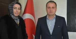 Nihal Olçok, Başkan Özcan'ı Ziyaret Etti