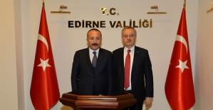 Vali Ali Fuat Atik, Edirne Valisi Günay Özdemir'i Ziyaret Etti