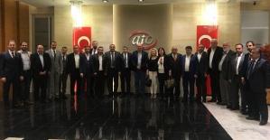 Siirt TSO Başkanı Güven Kuzu ve Beraberindeki Heyet, ATO Başkanı Gürsel Baran'ı Ziyaret Etti