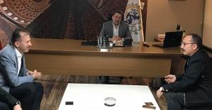 Vali Atik'ten, STSO Başkanı Güven Kuzu'ya Tebrik Ziyareti