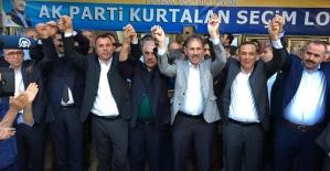 AK Parti Adayları Kurtalan'da Coşkuyla Karşılandı
