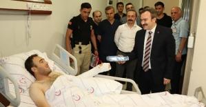 Başkan Taşkın,Terör Saldırısında Yaralanan Askeri Ziyaret Etti
