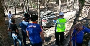 Virajı Alamayan Otomobil Okulun Bahçesine Uçtu