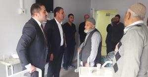 Kaymakam Aydemir ve Başkan Özcan, Hasta Ziyaretinde