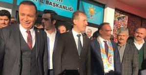 AK Parti Belediye Başkan Adayı Ali İlbaş, Coşkuyla Karşılandı