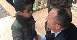 Suriyeli Çocuğun Vali Sevinci