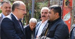 Vali Atik, Esnaf ve Vatandaşları Ziyaret Etmeye Devam Ediyor