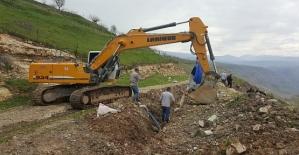 Heyelandan Dolayı Kayaboğaz Köyü İsale Hattında Güzergah Değişikliğine Gidildi