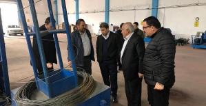Siirt TSO Başkanı Güven Kuzu, Çivi ve Çelik Hasır Fabrikasını Ziyaret Etti