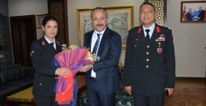 İl Jandarma Komutanlığı Heyetinden Vali Atik'e Ziyaret