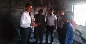 AK Parti İl Başkanı Çalapkulu, Evi Yanan Aslanhan Ailesini Ziyaret Etti