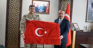 TEM Daire Başkanı Tuğgeneral Özfidan, Vali Ali Fuat Atik'i Ziyaret Etti