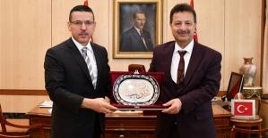 Rektör Erman, Sayıştay Başkanı Seyit Ahmet Baş'ı, Ziyaret Etti