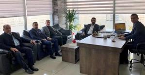 AK Parti İl Başkanı Av. Ekrem Olğaç, Kurtalan İlçe Başkanı Karaatay'ı Ziyaret Etti