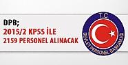 DPB: 2015/2 KPSS ile 2 bin 159 Personel Alınacak