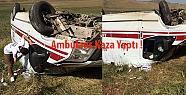Görevden Dönen Ambulans Kaza Yaptı