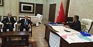 LİMAK Holding'in Yönetim Kurulu Başkanı Nihat Özdemir Kurtalan Kaymakamı Oktay Ateş'i Ziyaret Etti