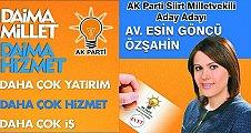 AK Parti Aday Adayı Avukat Esin Göncü Özşahin, Projelerini Anlattı