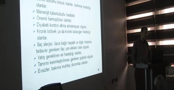 VEREM SAVAŞ HAFTASINDA DOKTORLARA EĞİTİM VERİLDİ