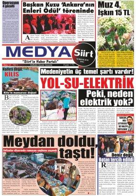 MedyaSiirt.Com - siirt, siirt haberleri, son dakika siirt haberleri, siirtspor, veleye, medya siirt, www.medyasiirt.com, Siirtliler, siirt haber, Medya Siirt Gazetesi - 14.05.2019 Manşeti