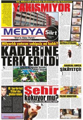 MedyaSiirt.Com - siirt, siirt haberleri, son dakika siirt haberleri, siirtspor, veleye, medya siirt, www.medyasiirt.com, Siirtliler, siirt haber, medya siirt gazetesi - 30.05.2019 Medya Siirt Gazetesi Manşeti