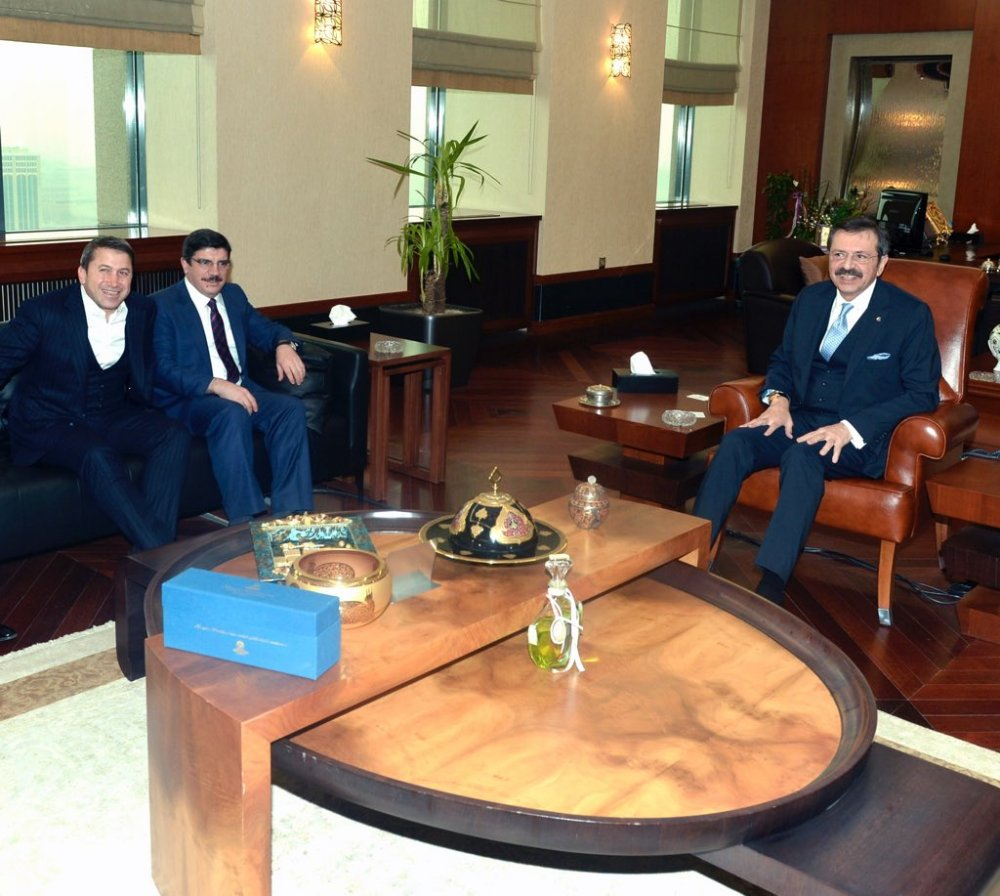 Siirt Ticaret ve Sanayi Odası Heyeti, TOBB Başkanı Hisarcıklıoğlu'nu Ziyaret Etti